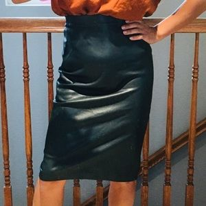 Faux leather Bar lll Pencil skirt Size XS